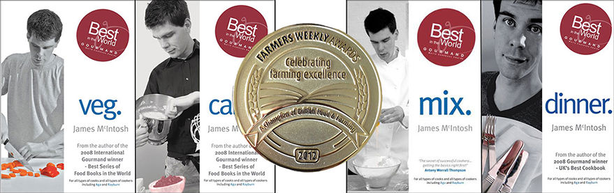 James' cookbooks and Farmers Weekly award.